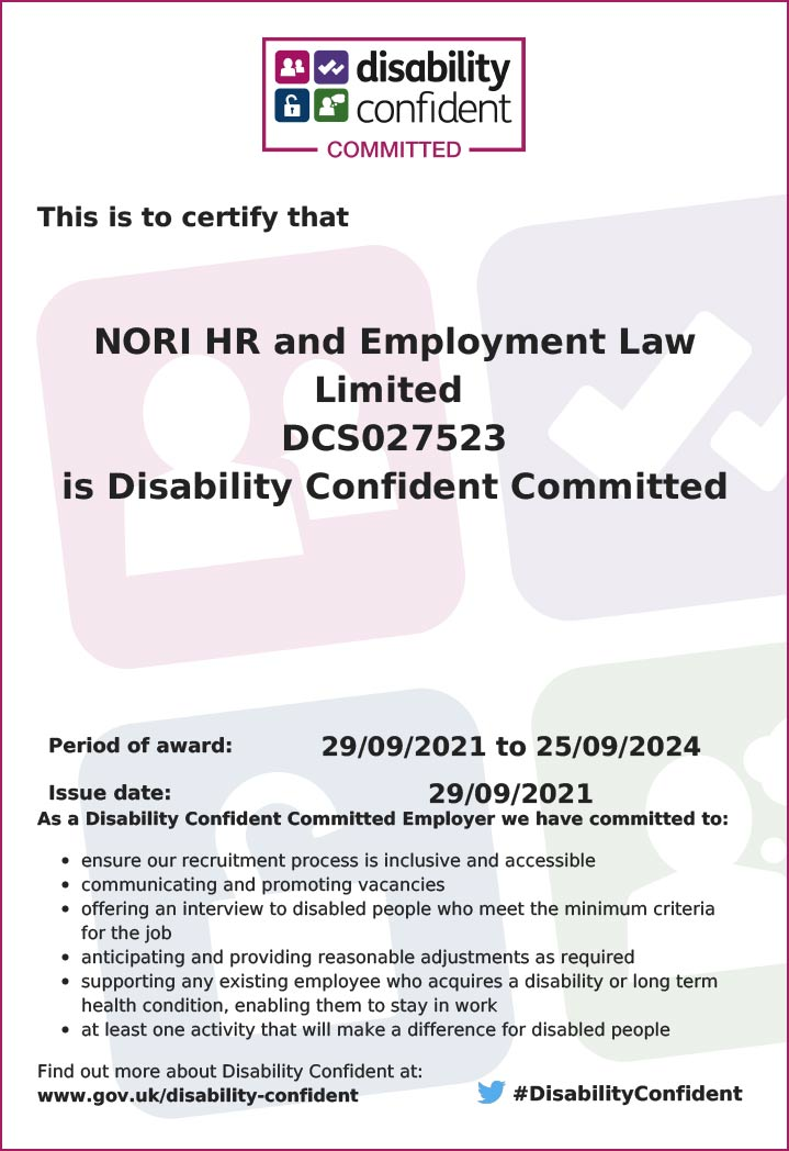 Disability Confident Committed Employer